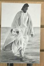 """JennyFowlerArt Walking grace Print 6""""x9"""" by Jenny Fowler"""