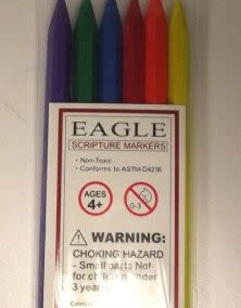 Eagle Erasable Scripture Markers pack of 6 (Crayons)