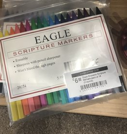 Eagle Erasable Scripture Markers pack of 18 (Crayons)