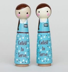 Called to Serve Peg Doll Girl 4.5 inch