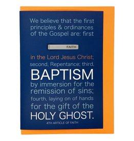 Baptism Greeting Card with Faith Tie Bar