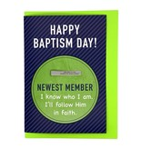 """Baptism Greeting Card with """"I Belong to the Church of Jesus Christ"""" Tie Bar"""
