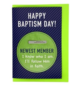 "Baptism Greeting Card with ""I Belong to the Church of Jesus Christ"" Tie Bar"