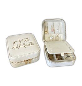 Missionary Travel Jewelry Case with Quote, Go Forth With Faith