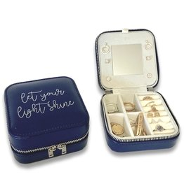 Missionary Travel Jewelry Case with Quote, Let Your Light Shine