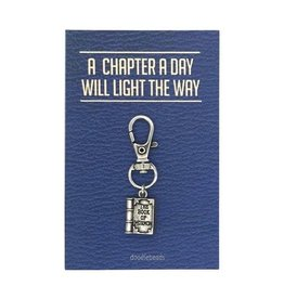 Book of Mormon Zipper Pull, A Chapter a Day Will Light the Way