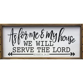 """Seagull Books As for me and my house we will serve the Lord (white 32"""" x 14"""") Wall Art"""