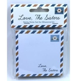 LOVE, THE SISTERS STICKY NOTE SET FOR MISSIONARIES