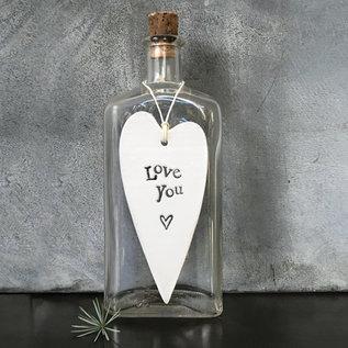EastOfIndia 2030 Porcelain long heart-Love you