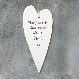 EastOfIndia 2042 Porcelain long heart-Happiness is time
