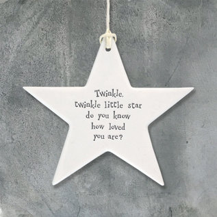 EastOfIndia 4043 Porcelain star-Twinkle twinkle