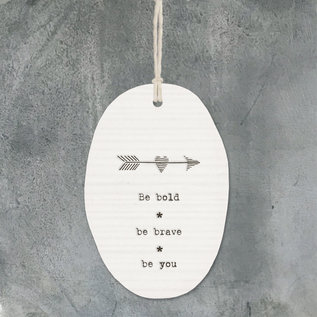 EastOfIndia 6309 Porcelain hanger arrow-Be bold