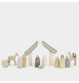 1542 Natural little boxed Nativity set