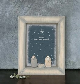 EastOfIndia 5154 Box frame-Jesus, Mary & Joseph