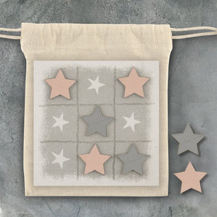 EastOfIndia 1599 Noughts & Crosses game-Pink stars