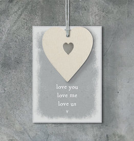 EastOfIndia 490B Cream heart tag-Love me, love you, love us