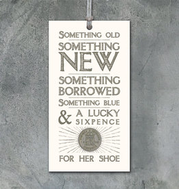 EastOfIndia 2260 Old,new,borrowed,blue tag with sixpence