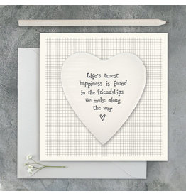 2501C Porcelain heart card-Lifes truest happiness