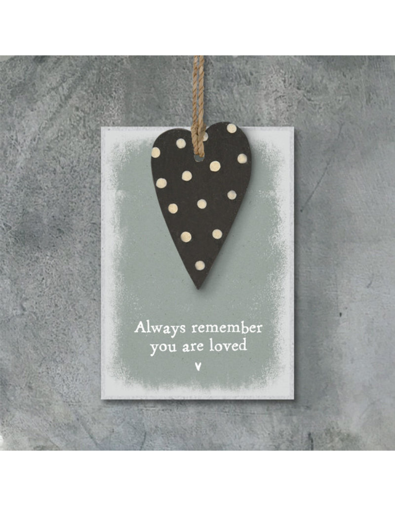 2775D Dotty heart tag-Always remember you are loved