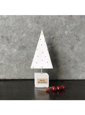 3378 Handmade Christmas tree-White