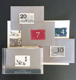 EastOfIndia 3347 Boxed advent envelope set