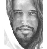 Christ Portrait by Jenny Fowler Art Framed 18x24 RRP £120 Special Price £95.00