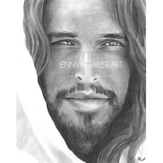 Jenny Fowler - Artist Christ Portrait by Jenny Fowler Art Framed 18x24 RRP £120 Special Price £95.00