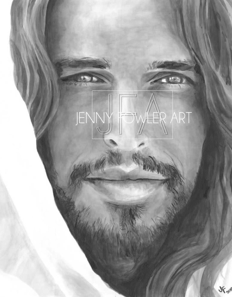 JennyFowlerArt Christ Portrait by Jenny Fowler Art Framed 18x24 RRP £120 Special Price £95.00