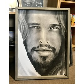 Jenny Fowler - Artist Christ Portrait by Jenny Fowler Art Framed 18x24 RRP £120 Special Price £95.00