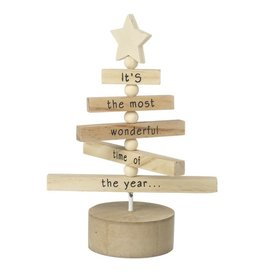 WOODEN TREE DECORATION Its the most wonderful time of the year
