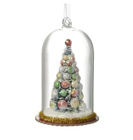 VINTAGE STYLE GLASS DOME WITH TREE