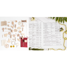 New Tradition Crafts New Testament and Book of Mormon Edition - Unfinished ornament kit with reference card
