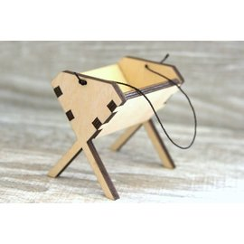 New Tradition Crafts Wooden Ornaments - Manger