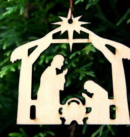 New Tradition Crafts Wooden Ornaments - NATIVITY