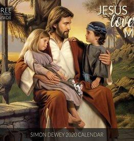Altus fine art 2020 Simon Dewey Calendar - Jesus Loves Me