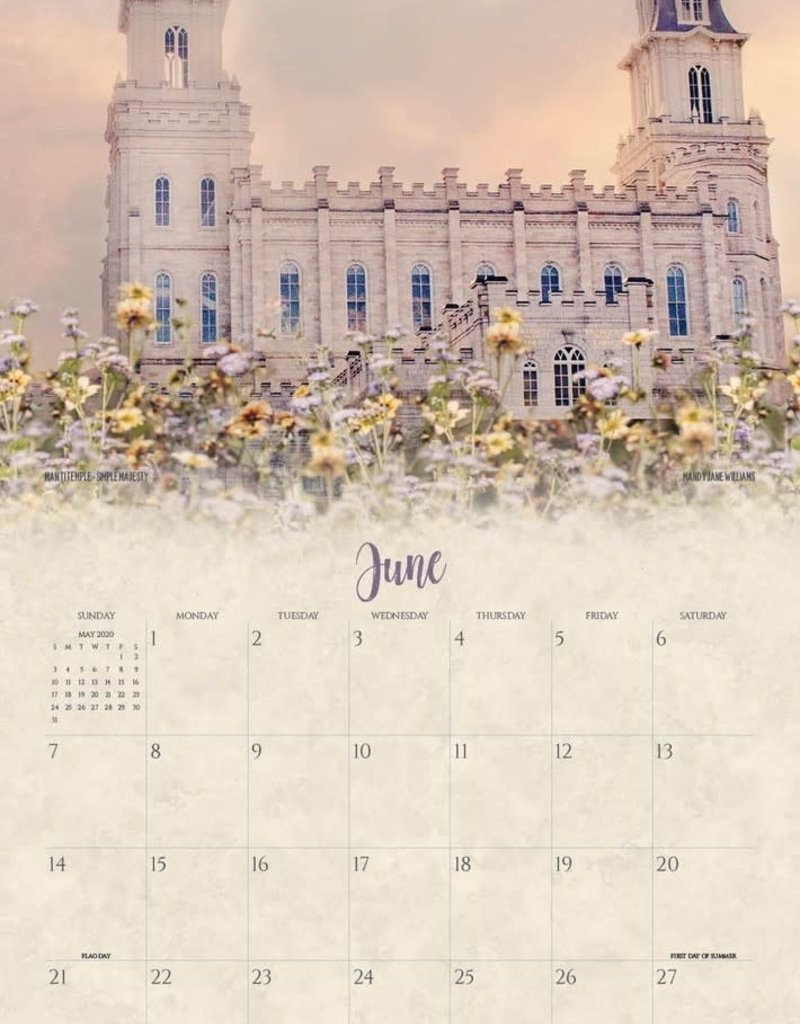 Altus fine art PRE ORDER 2020 Mandy Jane Williams Calendar - I Love to See the Temple