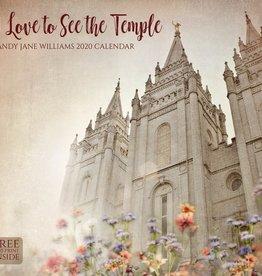 Altus fine art PRE ORDER 2020 Mandy Jane Williams Calendar - I Love to See the Temple