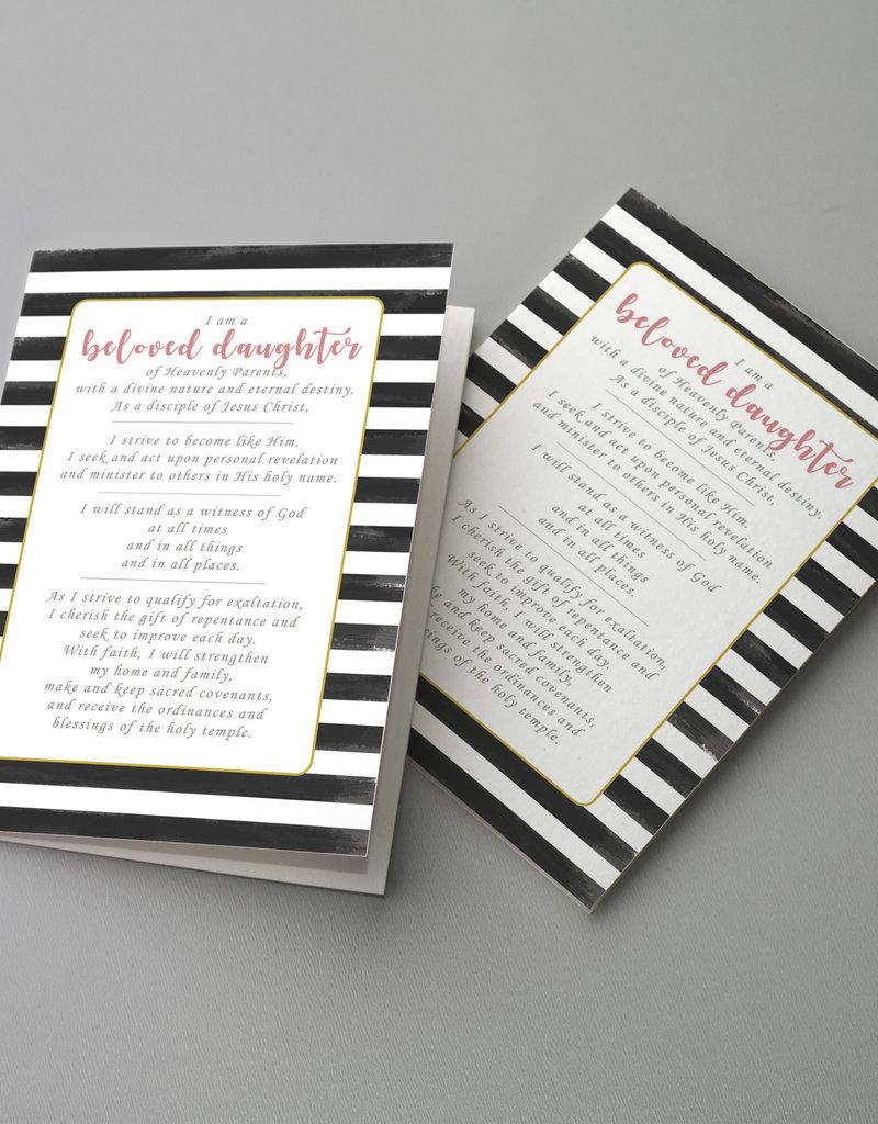 Young Women New Theme (A5 Card & Envelope) - Black Stripe