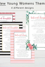Young Women New Theme (A5 Card & Envelope) - Pink Stripe