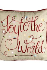 JOY TO THE WORLD LIGHT UP CUSHION