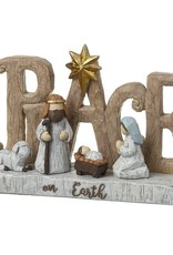 MARBLE EFFECT PEACE ON EARTH SIGN