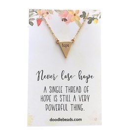 Hope Necklace, Never Lose Hope, (Colour: gold)
