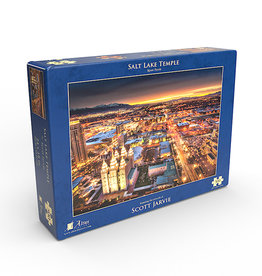 Altus fine art Salt Lake Temple Night by Scott Jarvie - Jigsaw Puzzle (500 Pieces)