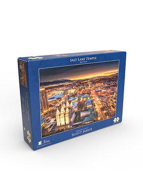 Salt Lake Temple Night by Scott Jarvie - Jigsaw Puzzle (500 Pieces)