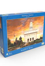 Altus fine art Nauvoo Temple. Robert A. Boyd 18x24 jigsaw puzzle (500 pieces)