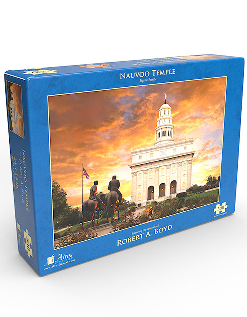 Altus fine art Nauvoo Temple by Robert A. Boyd - Jigsaw Puzzle (500 Pieces)