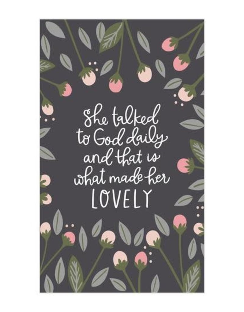 Petal Lane She talked to god daily 3X5 CANVAS MAGNET
