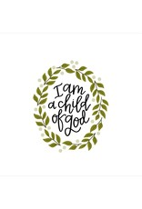 Petal Lane I am a child of God 4x4 canvas magnet