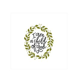 Petal Lane I am a child of God 4x4 canvas magnet