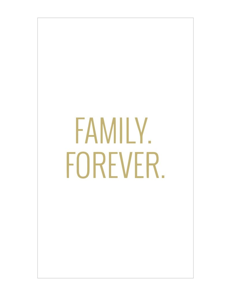 Petal Lane Family. Forever. 3x5 Canvas Magnet